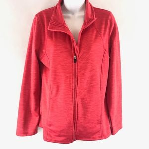 Xersion Red / Pink Zip Up Athletic Jacket M